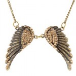 Alloy Angel Wings Pendant Necklace