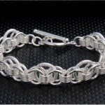 Cupronickel Alloy Interlocking Ring Bracelet