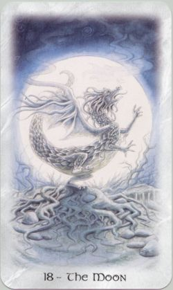 Arcano mayor – la luna – del tarot celta del dragon
