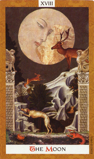 Arcano mayor – La luna – del tarot golden